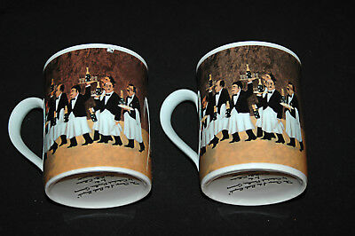 Guy Buffet Coffee/Tea Two Cups Eschenbach Mug Collection Porzellan German Made