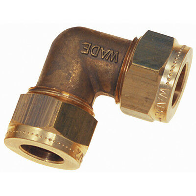 "WADE-2000, 1/8"" OD EQUAL ELBOW, Wade Brass Compression Fittings"