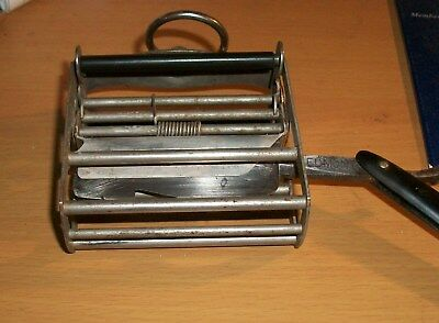 1912 Straight Razor Blade Sharpening Shaver Tool thingamajig WHATCHAMACALLIT