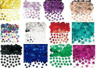 Metallic STARS CONFETTI Sprinkles Birthday Wedding Table Party Rose Gold