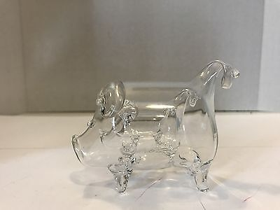 Vtg Blown Glass Pig in a Pig in a Pig Art Glass Figurine Roberto Niederer/Italy?