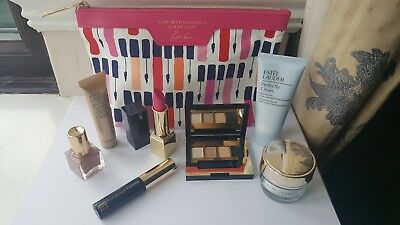 Bundle of 7 Estee Lauder GWP Products - Eyeshadow, DayWear, Lipstick, Mask New