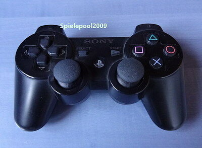 1 original Sony PS3 Dualshock 3 wireless Controller schwarz m. Vibration DEUTSCH