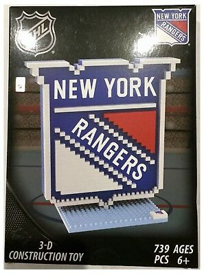 New York Rangers NHL Ice Hockey 3D Logo BRXLZ Brick Construction Set Puzzle