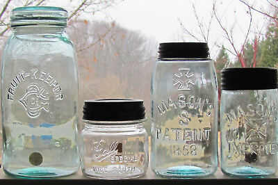 Group of misfit Jars #3 - 4 different collectible fruit jars
