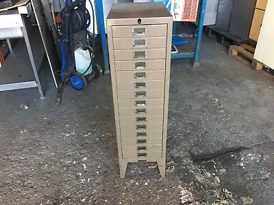 Vintage 15 Drawer A4 Filing Cabinet