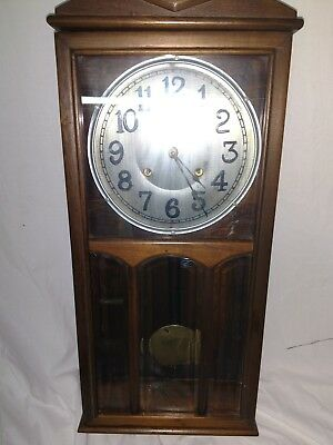 Antique Rare New Haven 8 Day Marino Gong Wall Clock works great