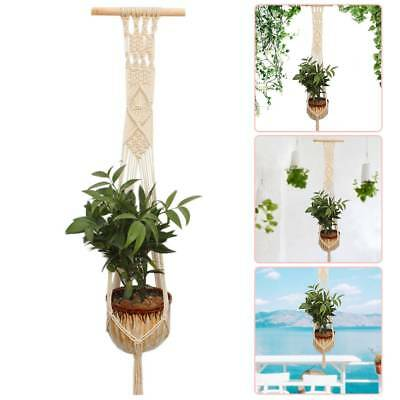 Plant Pot Hanger Macrame Jute For Indoor Outdoor Ceiling Holder Hanging Basket