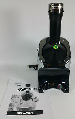 Dole YONANAS Elite Healthy Dessert Maker Model 978 Black Silver Chrome