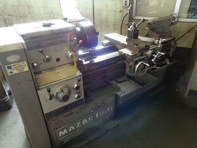 "18""/25"" Swing x 40"" Center Mazak Engine Lathe Metal Turning Machine"
