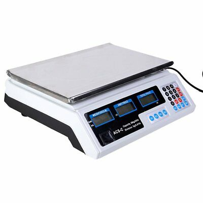 Electronic Price Computing Scale weight LCD Digital Commercial Food Meat Kitchen
