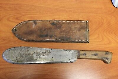 WWII CHATILLON NY USMC BOLO KNIFE MACHETE 1945 BOYT SCABBARD WW2 Fixed Blade 40s