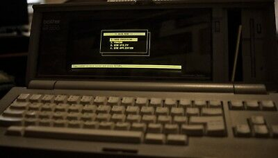 Vintage Brother Wp-2200 Word Processor With Working Floppy Drive