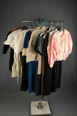 Vtg Girl's 1900s 1910s 1920s Clothing Lot of 13 As Is Dresses Coat Blouses #4496