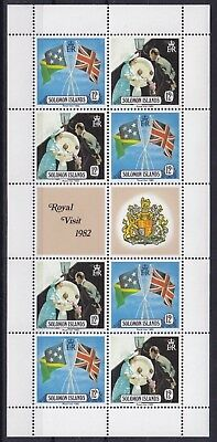 Solomon Islands Mi-Nr. 474 - 475 KB / Sheet **, Queen Elizabeh / Royal Visit