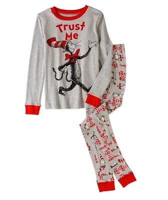 Dr Seuss Cat In The Hat Boys Pajamas Size Xs S M L New!