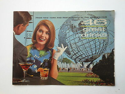 Vintage SOUTHERN COMFORT 46 Great Drinks, New York Worlds Fair,1964-1965