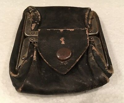 Vintage, Women's Pocket Coin Leather Purse. Very Old! # 6