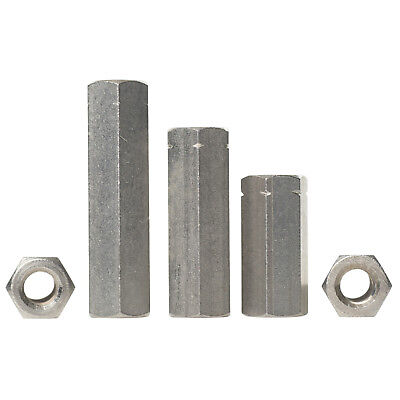 M5 M6 M8 M10 M12 A2 Stainless Steel Hex Connector Nuts Threaded Rod Couplers