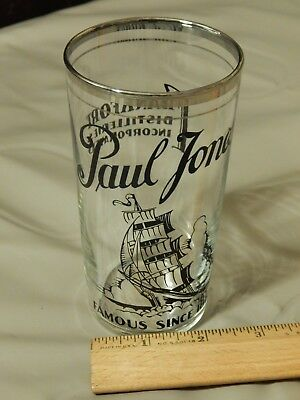 "Paul Jones Whiskey ""Famous Since 1865"" Frankfort Distillery [Drinking Glass] Ltd"