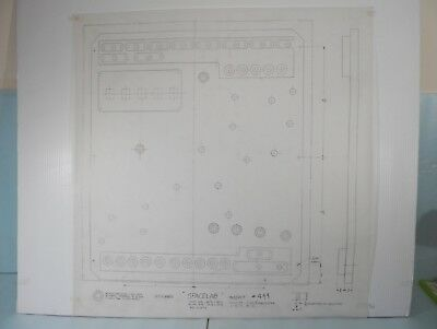 Original Backbox Insert Engineer Drawing for 1974 Williams Space Lab Pinball!