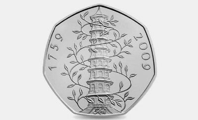 Kew Gardens Extremley Rare 1759-2009 Proof 50p Brilliant coin