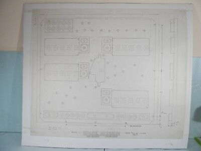 Original Backbox Insert Engineer Drawing - 1976 Williams Space Mission Pinball!