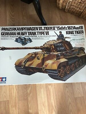 TAMIYA 1/16 RC GERMAN HEAVY TANK TypeⅣ KING TIGER  #5604 NEW From 1981