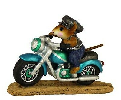 SPARKEY by Wee Forest Folk, WFF# M-314, TEAL Motorcycle
