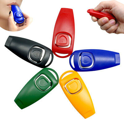 100pcs/lot Dog Clicker Whistle 2 in 1 Agility Trainer for Dog Training Obedience