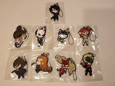 Persona 5 Rubber Strap Keychains Joker Queen Fox Mona Oracle Noir Skull Panther