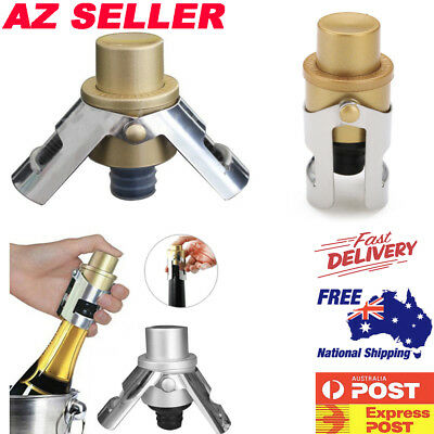 Stainless Steel Pressurised Champagne Bottle Stopper Sparking Plug Vacuum Sealer