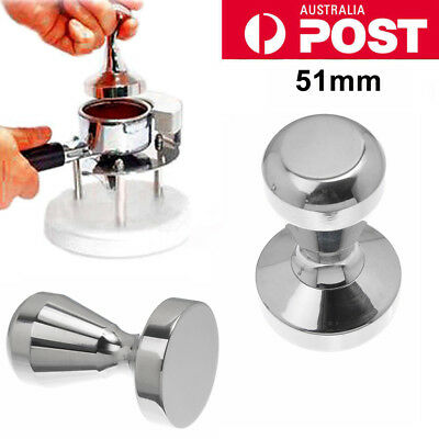 51MM Stainless Steel Coffee Tamper Tampa Espresso Barista Press Manual Grinder