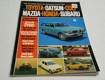 Vintage The Complete Book Of Japanese Cars 1972 Peterson USA
