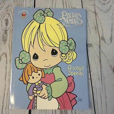 Vintage 1999 Precious Moments Coloring Book Always Special Uncolored