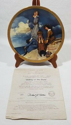 Norman Rockwell Waiting On The Shore Collector Plate #110635 Edwin Knowles