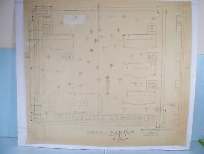 Original Backbox Insert Engineer Drawing for 1980 Williams Blackout Pinball!