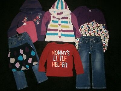 Girls Size 4T  ** FALL & WINTER CLOTHING LOT ** Clothes OUTFITS SETS MIX-N-MATCH