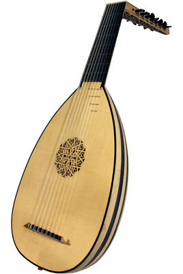 Roosebeck Deluxe Lute 8 Course Lacewood & Ebony + Padded Gig Bag
