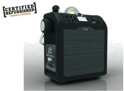 Bluetooth Wireless PA system w/ FM Radio effects light rechargeable Battery *RFB