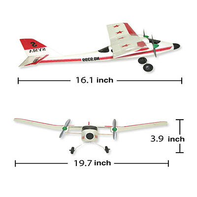 20 Inch Wingspan Super Sonic RC Plane w Twin Motors Remote Control Christmas Toy