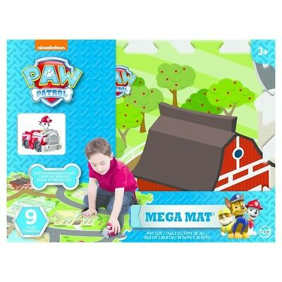 Paw Patrol  9 Tile Mega Mat Jigsaw Puzzle with 1 Assorted Character Toy Car