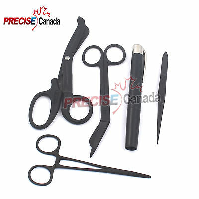 Shears Emt/scissors Combo Pack W/holster Tactical Black Scissors Forceps, Light