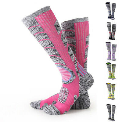 High Elasticity Ski And Snowboard Long Stretch Sleeve Cotton Skiing Socks