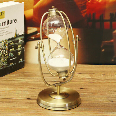 30 Minute Rolating Sand Timer Sandglass Teaching Game Hourglass Clock Home Decor