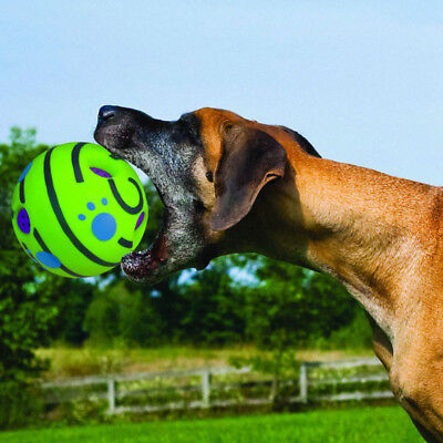 Wobble Wag Giggle Ball Dog Play Squeaky Ball Training Pet Toys With Funny Sound