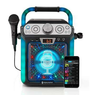 Singing Machine Groove Cube CDG Karaoke System/Bluetooth/USB/MIC/Mul-Colour LED