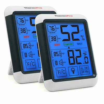 2×Digital Hygrometer Indoor Humidity Thermometer and Backlight Humidity Monitor