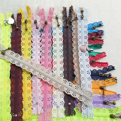 10 x Nylon Mixed Color Lace Edge Zipper Puller DIY Craft Zip Tailor Sewing Tool