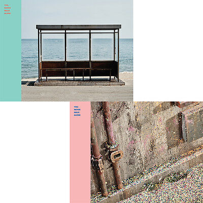 BTS - You Never Walk Alone [LEFT+RIGHT ver SET] +2 Photocard+2 Posters+Free Gift